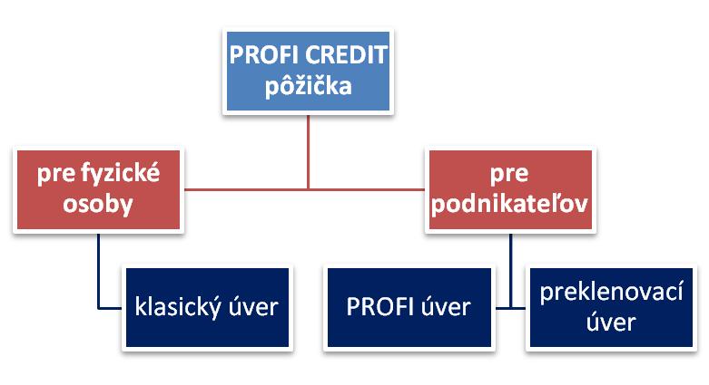 PROFI CREDIT pôžička podnikateľ diagram