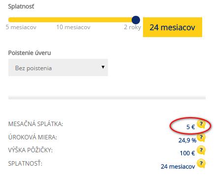 Výhodné splátky od 5 EUR Poštová banka