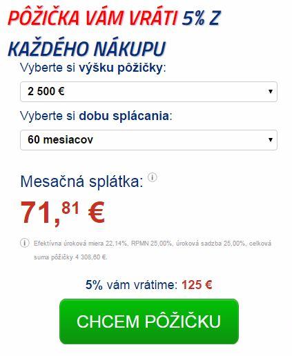 Quatro pôžička kalkulačka online