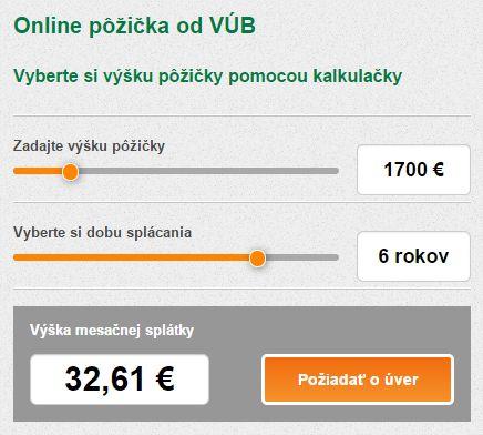 VÚB banka online kalkulačka